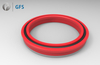 PUN - Customized U-Cup, U-Shaped PU Piston Seal With Retainer Ring and O-Ring
